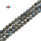 Coated Dark Labradorite Star Cut Beads Size 8mm 15.5'' Strand
