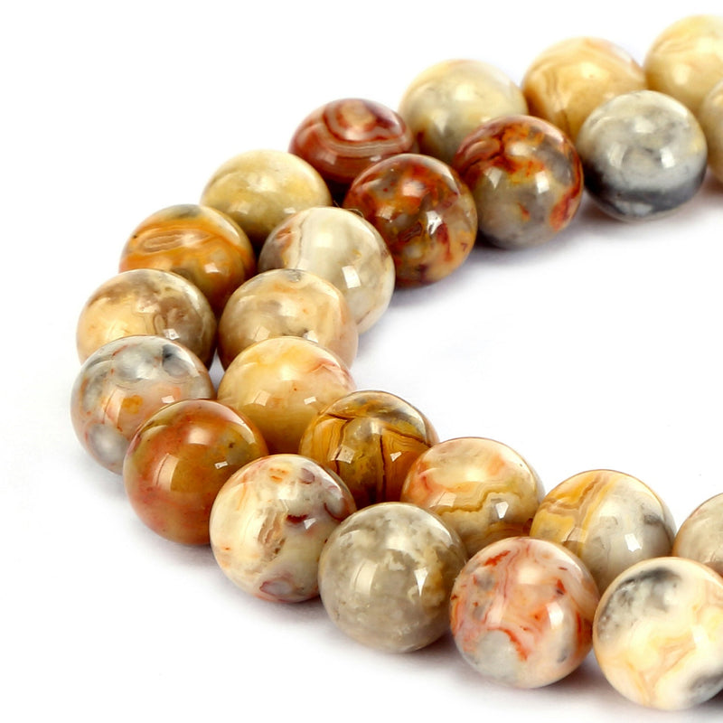 crazy agate smooth round beads