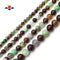 "Brown Green Chrysoprase Smooth Round Beads 6mm 8mm 10mm 12mm 15.5"" Strand"
