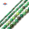 "Natural Chrysoprase Smooth Round Beads 4mm 6mm 8mm 10mm 12mm 15.5"" Strand"