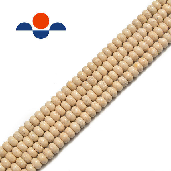 natural river stone smooth rondelle beads