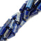 lapis lazuli smooth flat cylinder tube beads