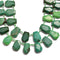 chrysoprase faceted trapezoid shape beads