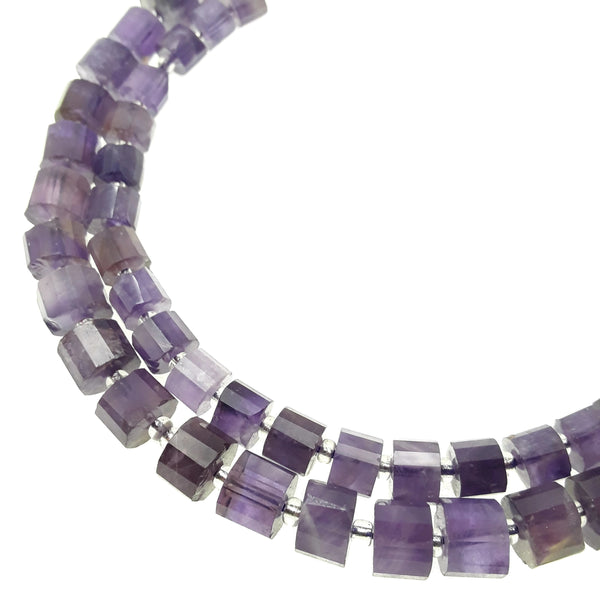 "Amethyst Faceted Rondelle Wheel Discs Beads Approx 5x6mm 6x8mm 15.5"" Strand"