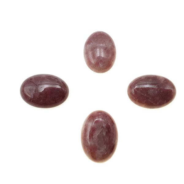 Strawberry Quartz Oval Cabochon Size 15x20mm 20x30mm Sold Per Piece
