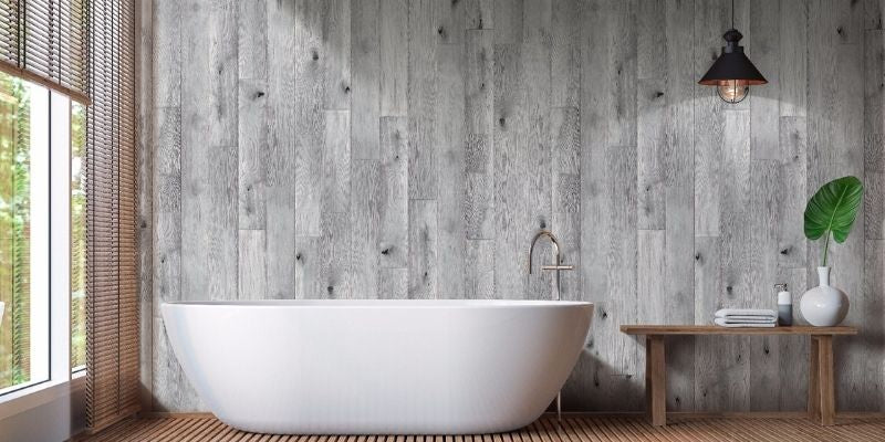 wood effect wall panelling