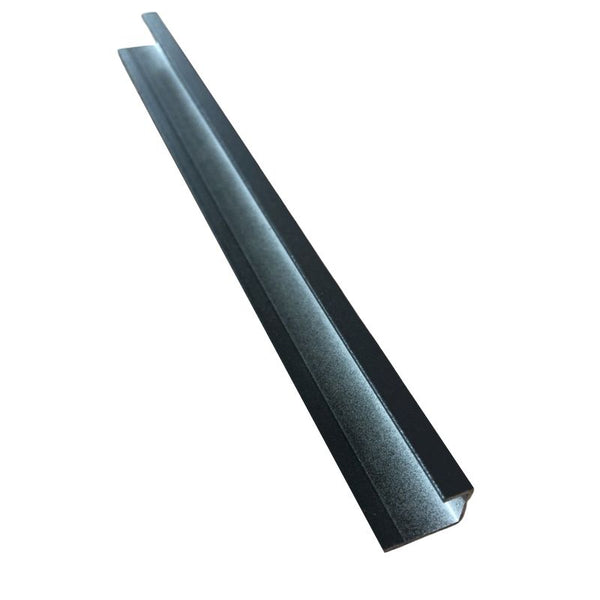 ALUMINIUM END CAP SQUARE ANTHRACITE (10mm DEPTH)
