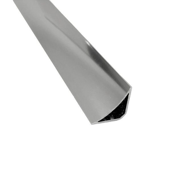 ALUMINIUM SCOTIA COVING BRIGHT SILVER
