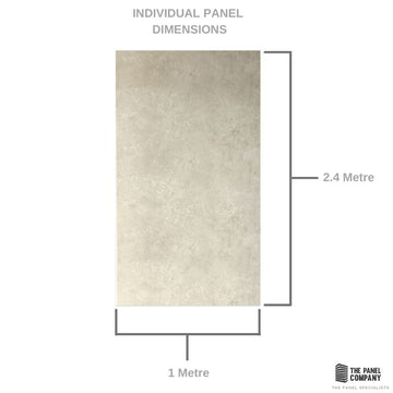 LARGE BEIGE CONCRETE 1.0m x 2.4m SHOWER PANEL