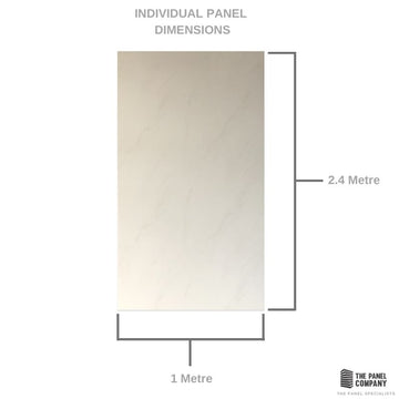 LARGE SUBTLE WHITE CARRARA MARBLE 1.0m X 2.4m SHOWER PANEL
