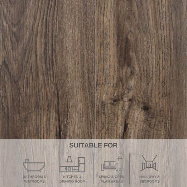 KILCOGUHAR OAK SPC FLOORING | WITH BUILT IN UNDERLAY | ELEGANCE RANGE | 2.2568M² PACK