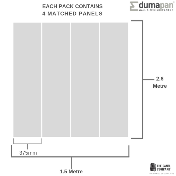 DUMAPAN SMP SALAMANCA GREY 375mm X 8mm PACK OF 4