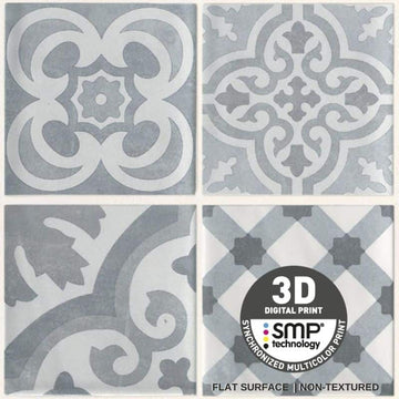 DUMAPAN SMP CEMENT TILE GREY 375mm X 8mm PACK OF 4