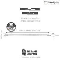 DUMAPAN SMP CASABLANCA SQUARE 375mm X 8mm PACK OF 4