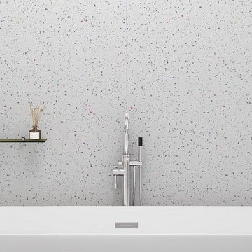 LARGE WHITE SPARKLE 1.0m X 2.4m SHOWER PANEL