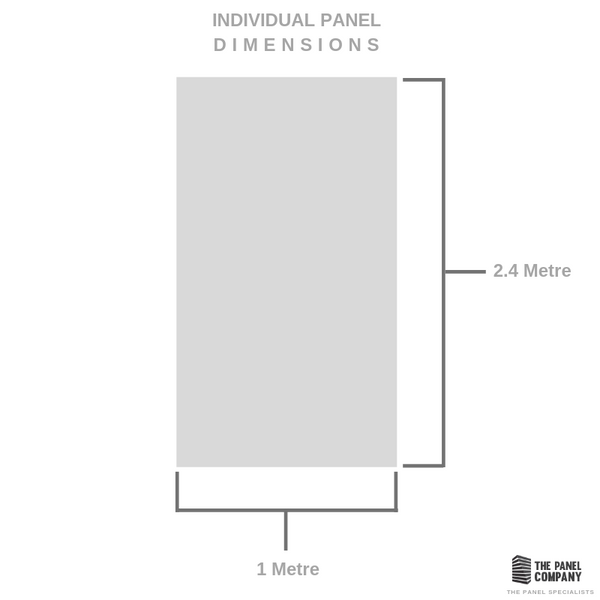 LARGE BRUSHED SILVER GREY 1.0m X 2.4m SHOWER PANEL