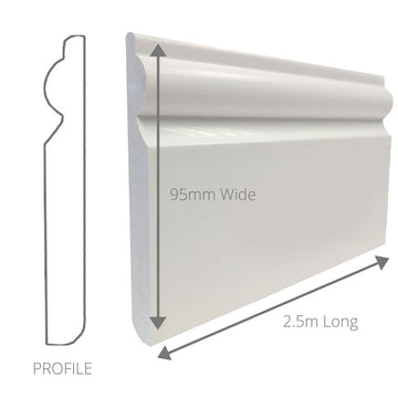 SKIRTING 95mm x 2.5m PACK OF 2