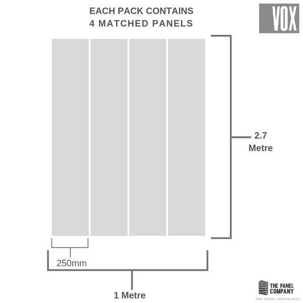 VOX MODERN DECOR SILVER SMALL TILE 4 PACK