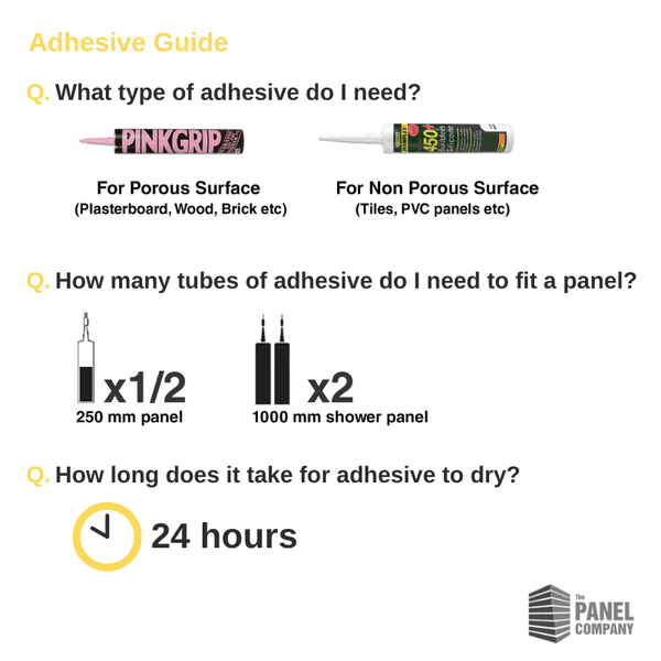 Bathroom Wall Panel Adhesive Guide - The Panel Company