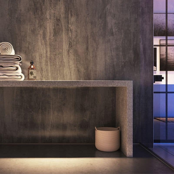 Washed charcoal showerwall solid core mdf shower panel