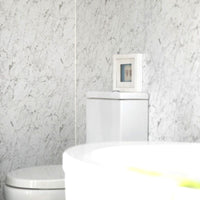 LARGE WHITE MARBLE 1.0m X 2.4m SHOWER PANEL
