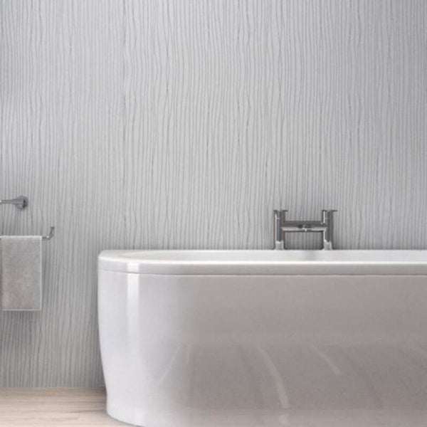 LARGE WHITE SILVER STRING 1.0m X 2.4m SHOWER PANEL