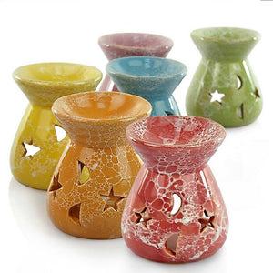 Ceramic Stars Moon Pattern Tea Light Candle Holder - Meliscents - Wax Melts & More