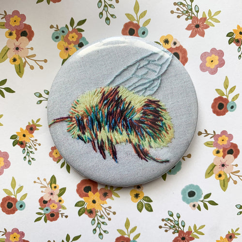 rainbow bumblebee pin