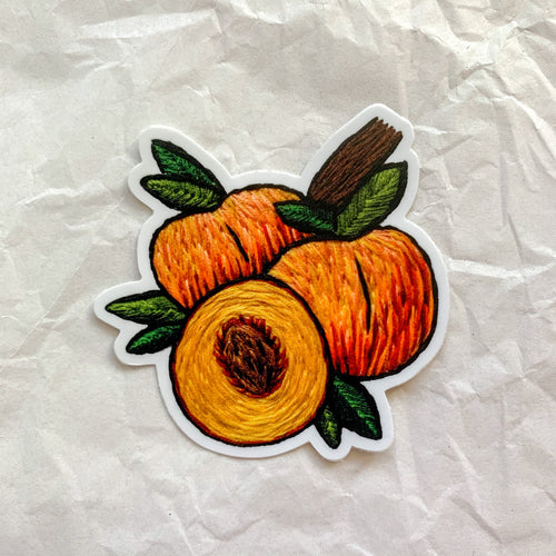 peaches sticker