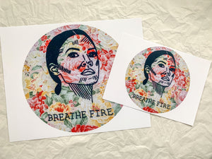 breathe fire AOC print