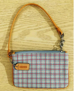 Coach Plaid Wristlet