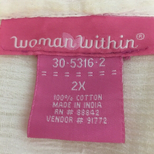 Load image into Gallery viewer, Woman Within Tunic Top Size 2X