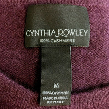 Load image into Gallery viewer, Cynthia Rowley 100% Cashmere Sweater Size Medium