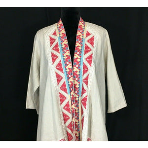 NEW JAMES BRYAN Boho Cardigan Tunic Size Medium