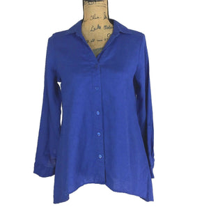 FOR CYNTHIA 100% Linen Shirt Size Small