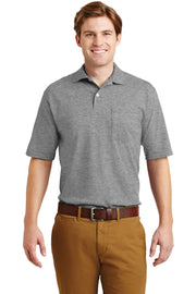JERZEES -SpotShield 5.6-Ounce Jersey Knit Sport Shirt with Pocket. 436MP