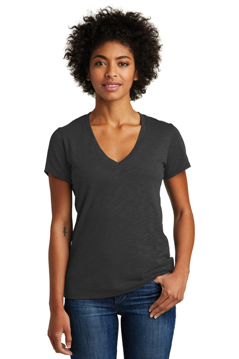 Alternative Women's Weathered Slub So-Low V-Neck Tee. AA6097