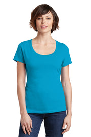 District Women's Perfect Weight Scoop Tee. DM106L