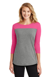 District Women's Rally 3/4-Sleeve Tee. DT2700