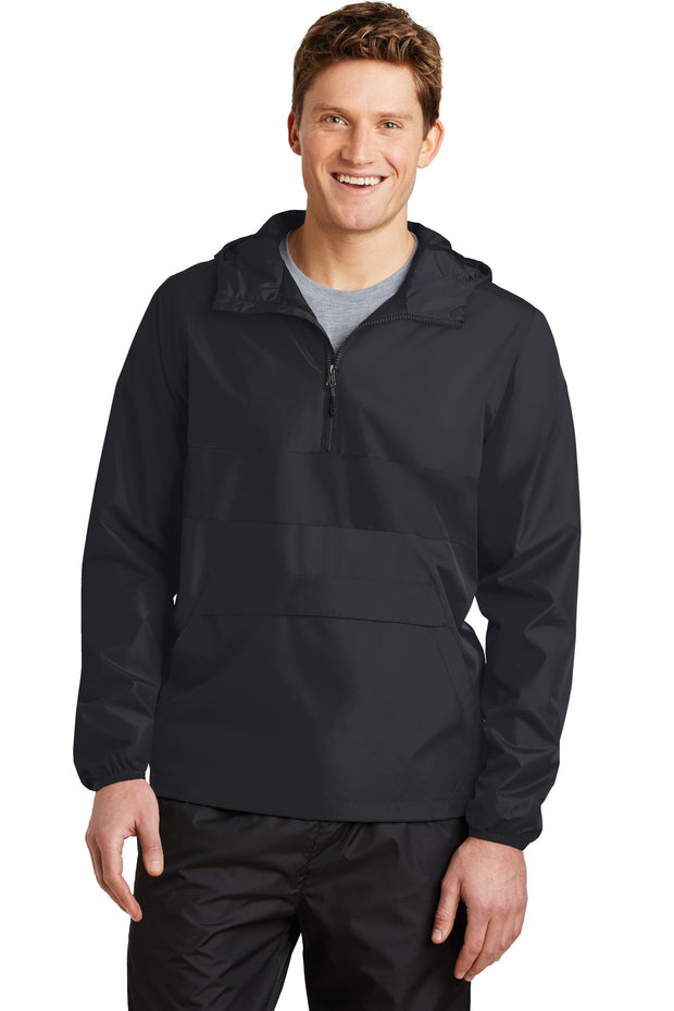 Sport-Tek Zipped Pocket Anorak. JST65