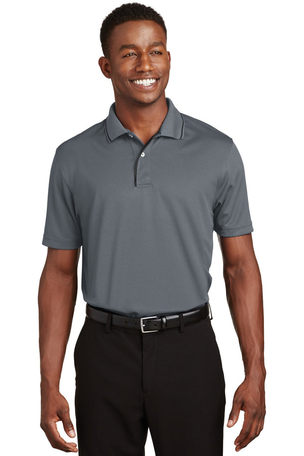 Sport-Tek Dri-Mesh Polo with Tipped Collar and Piping.  K467