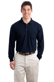 Port Authority Long Sleeve Silk Touch Polo with Pocket.  K500LSP