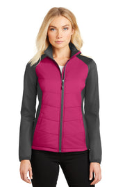 Port Authority Ladies Hybrid Soft Shell Jacket. L787