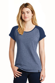 New Era  Ladies Heritage Blend Varsity Tee. LNEA107
