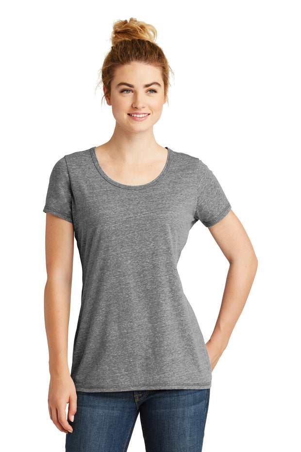New Era  Ladies Tri-Blend Performance Scoop Tee. LNEA130
