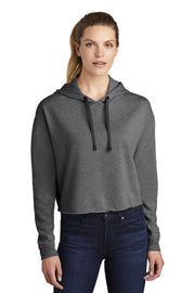 Sport-Tek  Ladies PosiCharge  Tri-Blend Wicking Fleece Crop Hooded Pullover LST298