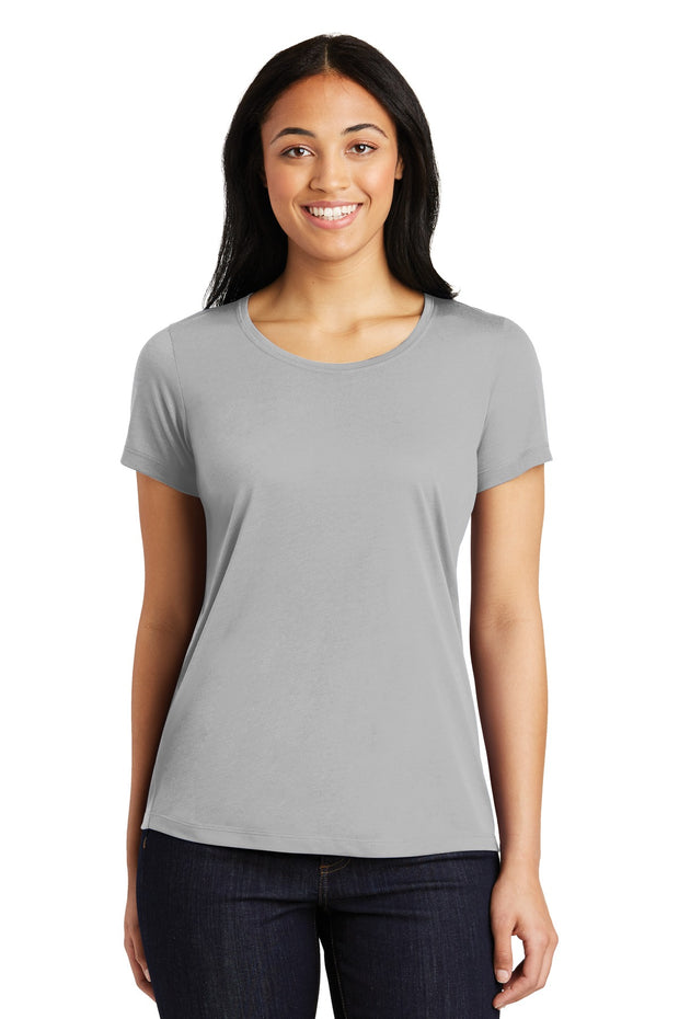 Sport-Tek Ladies PosiCharge Competitor Cotton Touch Scoop Neck Tee. LST450