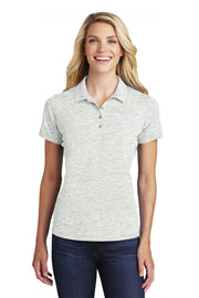 Sport-Tek  Ladies PosiCharge  Electric Heather Polo. LST590