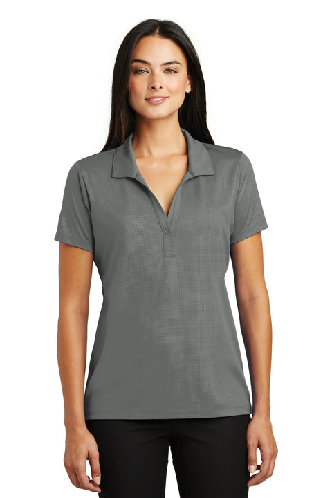 Sport-Tek Ladies Embossed PosiCharge Tough Polo. LST630