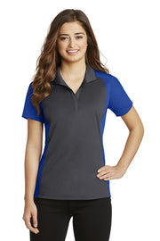 Sport-Tek Ladies Colorblock Micropique Sport-Wick Polo. LST652